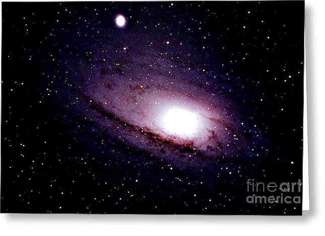 Messier 31 Greeting Cards - The Great Andromeda Galaxy Greeting Card by John Chumack