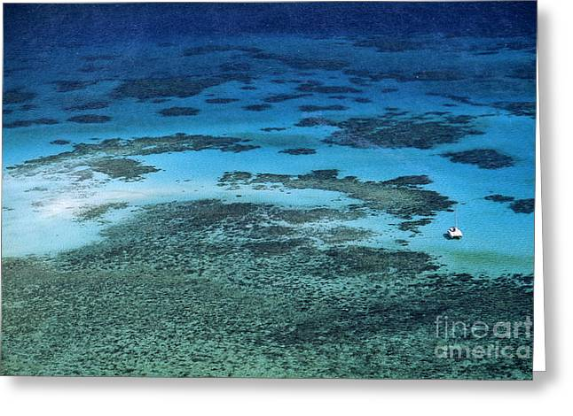 Sea Platform Greeting Cards - The Great Barrier Reef Greeting Card by Bill Bachmann