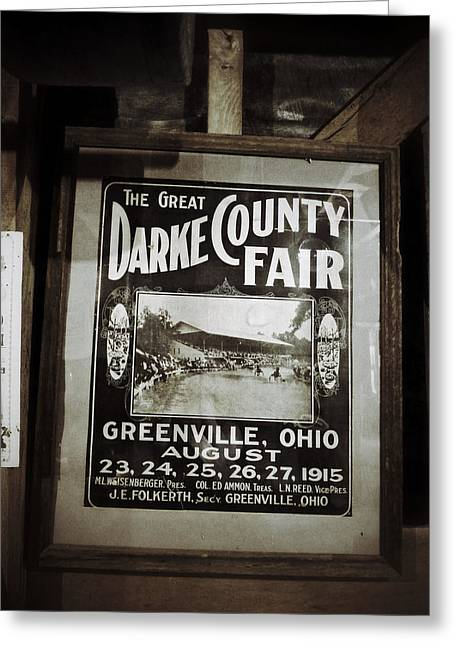 Grist Mill Digital Art Greeting Cards - The Great Darke County Fair 1915 Greeting Card by Natasha Marco