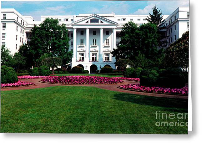 Sulphur Spring Greeting Cards - The Greenbrier Greeting Card by Thomas R Fletcher