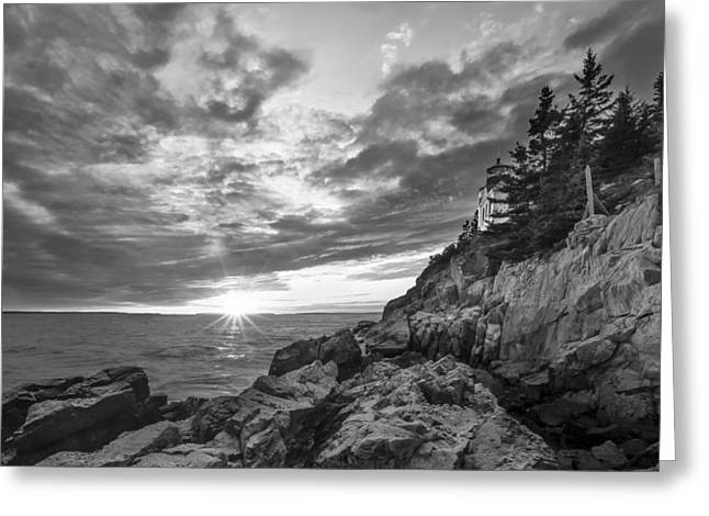 Coastal Maine Greeting Cards - The Harbor Dusk II Greeting Card by Jon Glaser