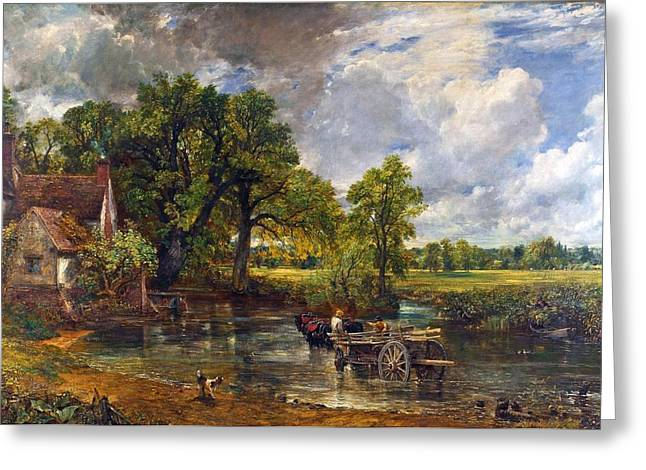 Constable Greeting Cards - The Hay Wain Greeting Card by John Constable