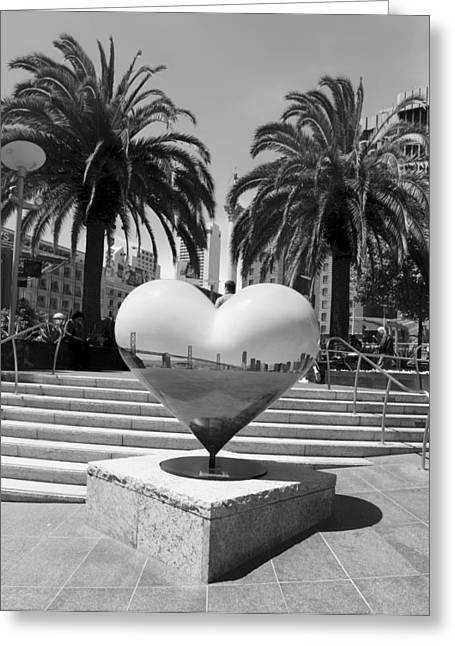 Union Square Photographs Greeting Cards - The Heart of San Francisco Greeting Card by Mountain Dreams