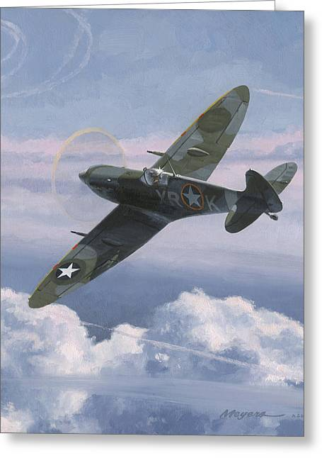 Military Aircraft Greeting Cards - The High Country Greeting Card by Wade Meyers
