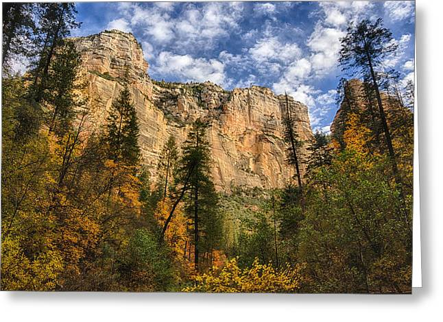 West Fork Greeting Cards - The Hills of Sedona  Greeting Card by Saija  Lehtonen