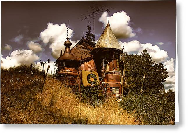 David Patterson Greeting Cards - The Junk Castle Greeting Card by David Patterson