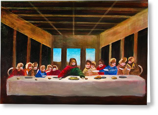 Last Supper Greeting Cards - The Last Dinner Greeting Card by Randy Burns