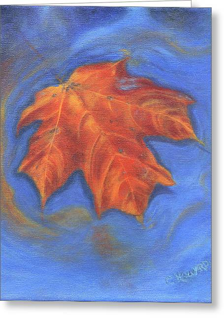 Catherine Howard Greeting Cards - The Lonely Leaf Greeting Card by Catherine Howard