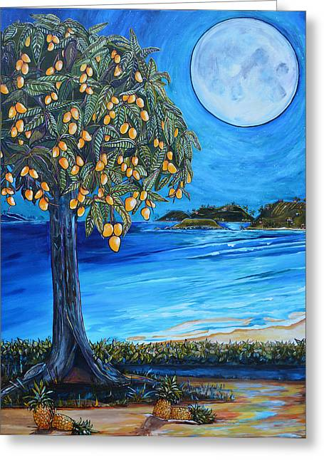 The Mango Tree Greeting Card by Patti Schermerhorn