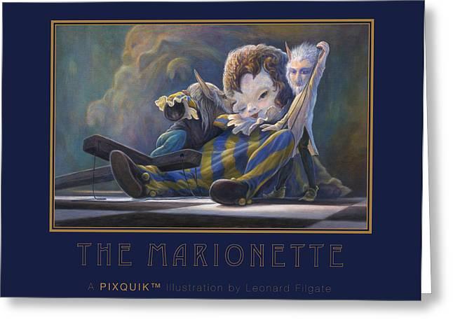 Leonard Filgate Greeting Cards - The Marionette Greeting Card by Leonard Filgate
