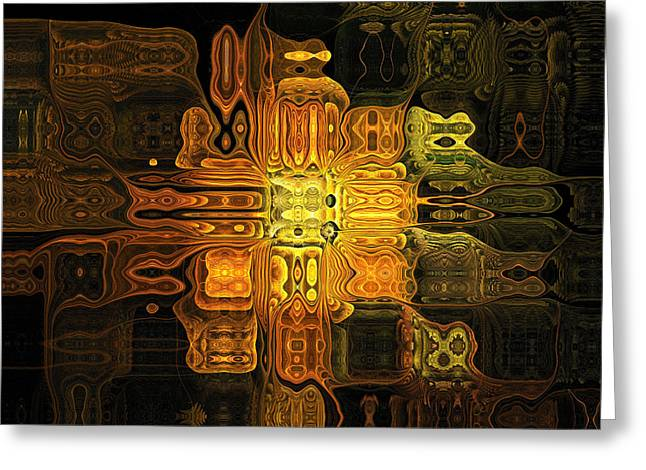 Floral Digital Art Digital Art Greeting Cards - The Midas Touch Greeting Card by Amanda Moore
