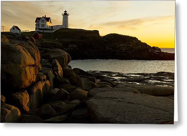 Cape Neddick Lighthouse Greeting Cards - The Nubble Greeting Card by Steven Ralser