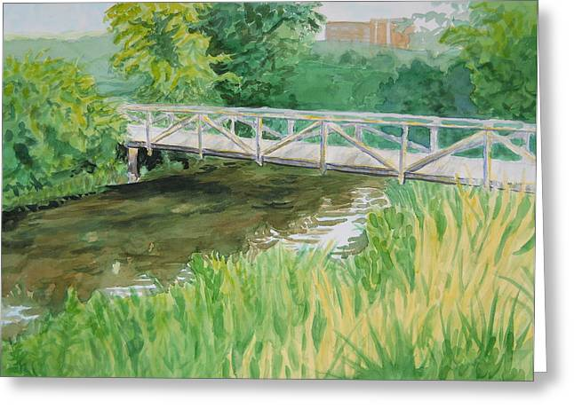 Wcu Greeting Cards - The Old Bridge Greeting Card by Sheena Kohlmeyer