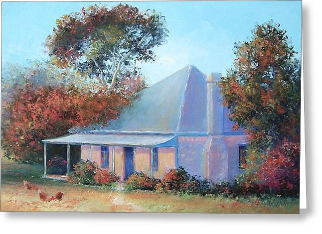 Lounge Paintings Greeting Cards - The old farm house Greeting Card by Jan Matson