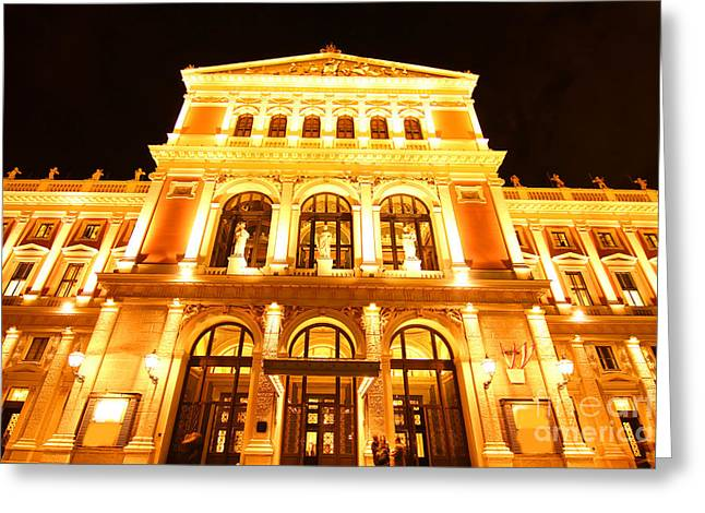 Wine Scene Greeting Cards - The Opera house in Vienna Greeting Card by Michael Osterrieder