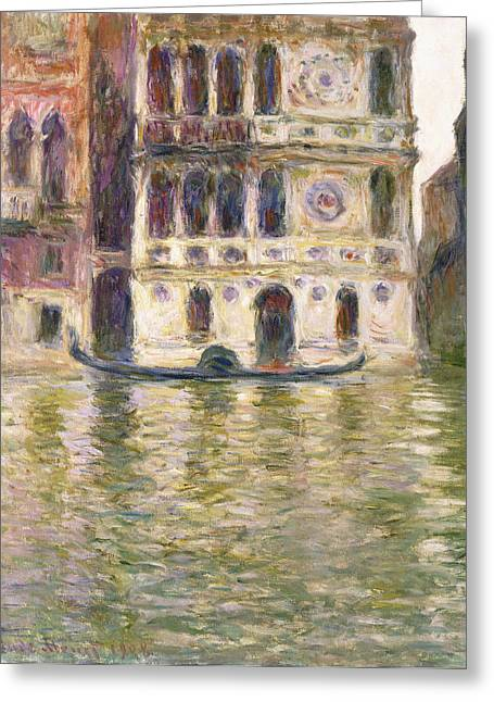 Monet Cards Greeting Cards - The Palazzo Dario Greeting Card by Claude Monet