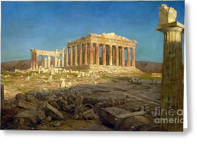 The Parthenon Greeting Card by Celestial Images