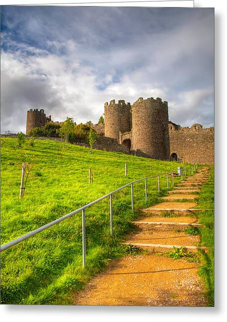 Stone Steps Greeting Cards - The Path Leadeth Me Home Greeting Card by Adrian Evans