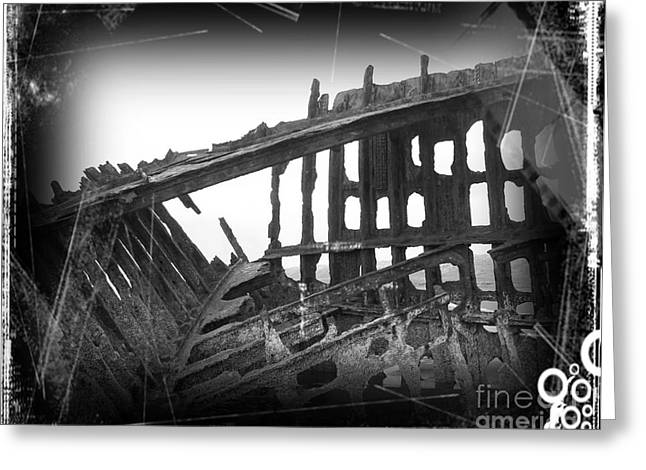 On The Beach Greeting Cards - The Peter Iredale 8 Greeting Card by Chalet Roome-Rigdon