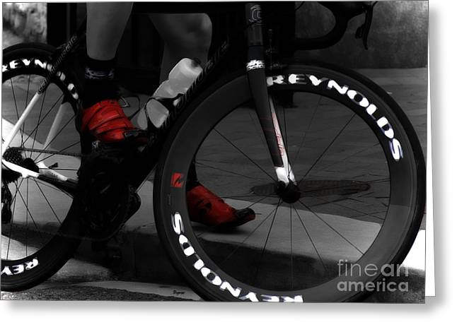 Bicycle Racing Greeting Cards - The Power of Red Greeting Card by Steven  Digman