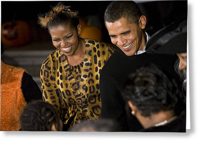 The President and First Lady Greeting Card by JP Tripp