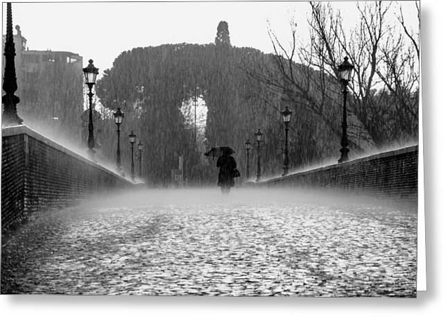 Moist Greeting Cards - The Rain Shower Greeting Card by Mountain Dreams