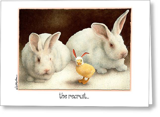 Hare Greeting Cards - The Recruit... Greeting Card by Will Bullas