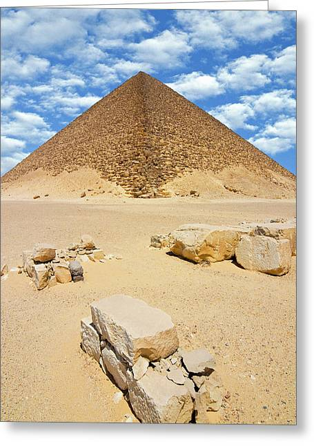 The Red Pyramid (senefru Or Snefru Greeting Card by Nico Tondini