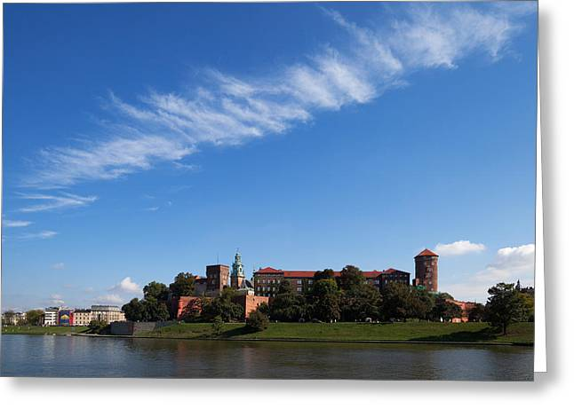 Krakow Greeting Cards - The River Wisla Passing The 11th Greeting Card by Panoramic Images