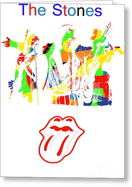 Mick Jagger And Keith Richards Greeting Cards - The Rolling Stones Greeting Card by Michael Braham