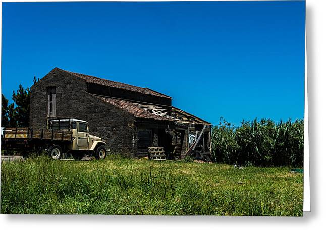 China Beach Greeting Cards - The Roof and the Truck Greeting Card by Joseph Amaral