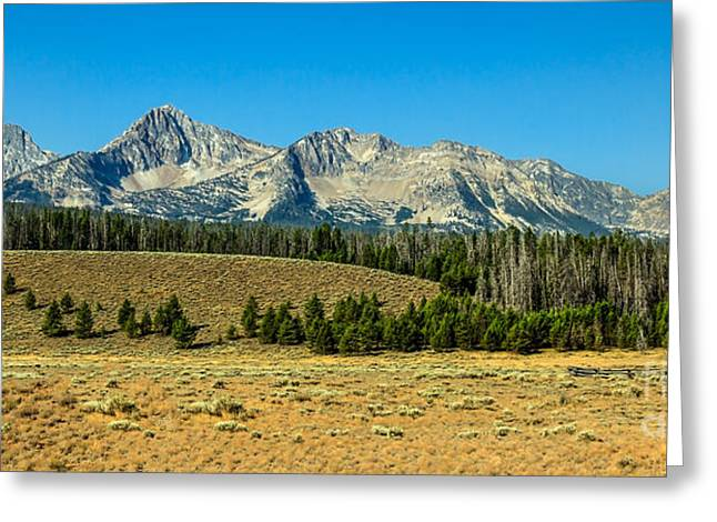 Haybales Greeting Cards - The Sawtooths Greeting Card by Robert Bales