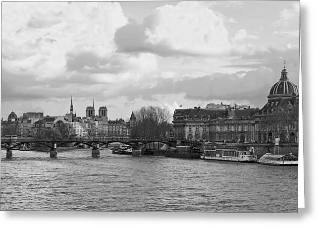 Historic Ship Greeting Cards - The Seine in Paris Greeting Card by Mountain Dreams