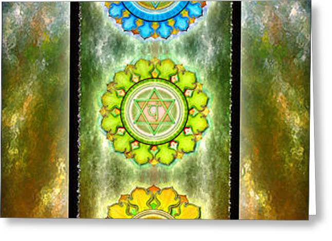 The Seven Chakras Series 2012 Greeting Card by Dirk Czarnota
