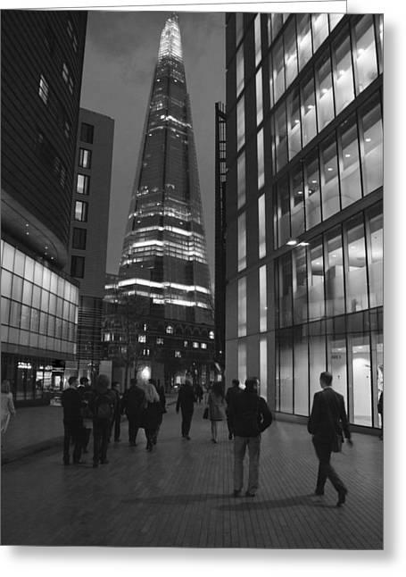 The Shard London Skyline Bw Greeting Card by David French