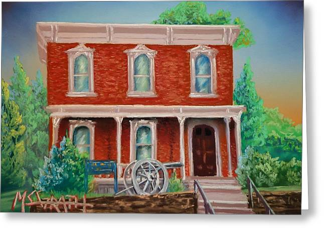 Civil Pastels Greeting Cards - The Sherman House  Greeting Card by Darren McGrath