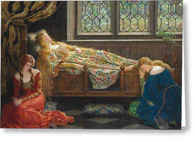 The Sleeping Beauty Greeting Card by John Collier