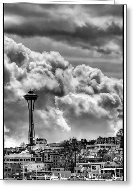 Seattle Center Greeting Cards - The Space Needle Greeting Card by David Patterson