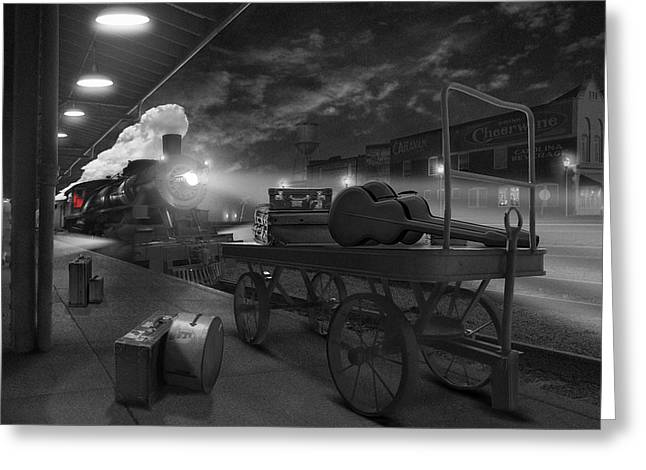 Railroad Tracks Greeting Cards - The Station Greeting Card by Mike McGlothlen