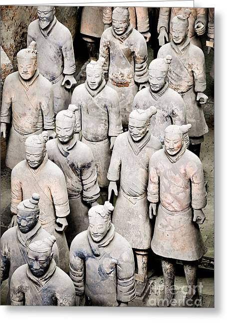 Qin Greeting Cards - The terracotta army Greeting Card by Delphimages Photo Creations
