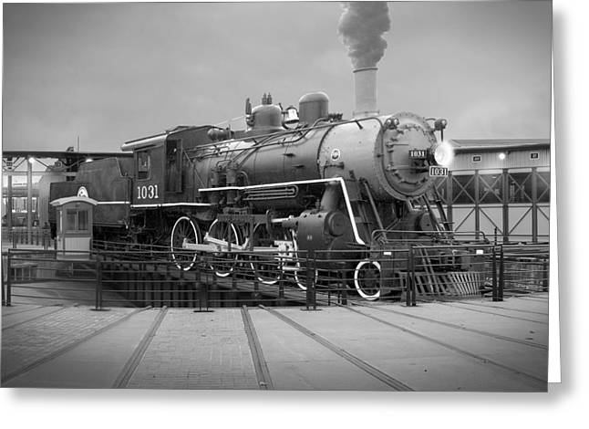 Train Yard Greeting Cards - The Turntable Greeting Card by Mike McGlothlen