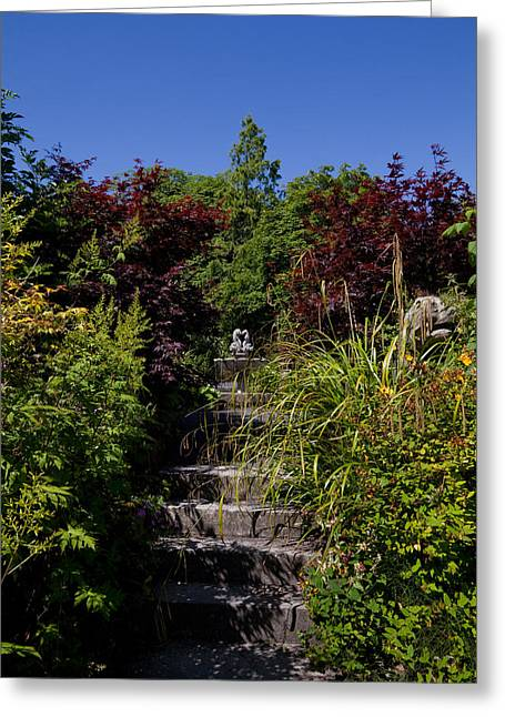 Border Photographs Greeting Cards - The Walled Garden, Belvedere House Greeting Card by Panoramic Images