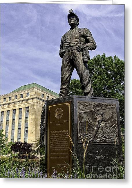 Seat Of Power Greeting Cards - The West Virginia Coal Miner Greeting Card by Thomas R Fletcher