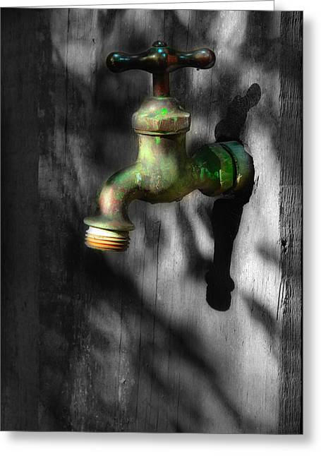 Faucet Greeting Cards - The Years Have Gone Greeting Card by Michael Eingle