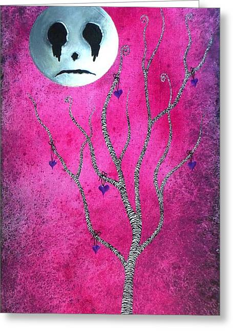 Man In The Moon Paintings Greeting Cards - The Zebra Effect 3 Greeting Card by Oddball Art Co by Lizzy Love