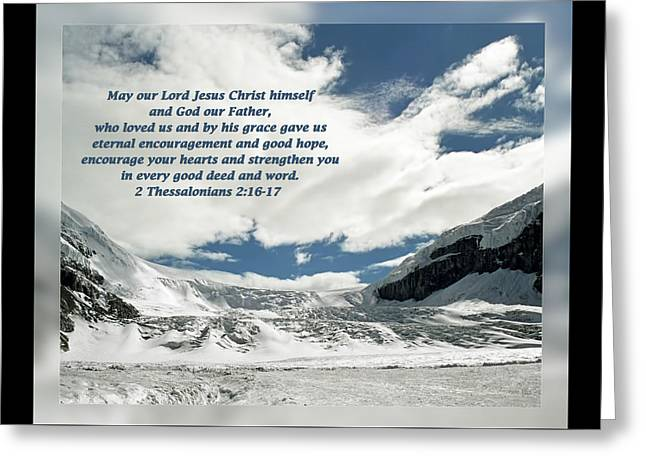 2 Thessalonians 2 16-17 Greeting Card by Dawn Currie