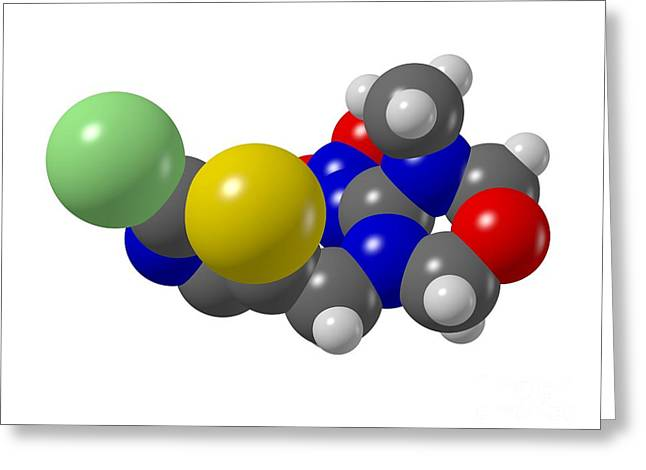 Deterrent Greeting Cards - Thiamethoxam Insecticide Molecule Greeting Card by Dr Mark J. Winter