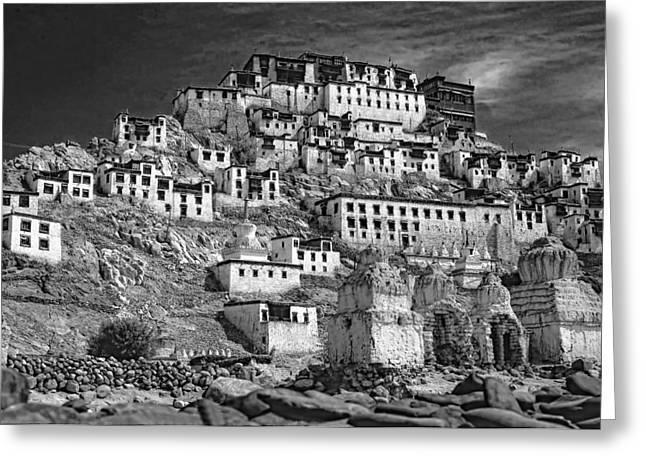 Steve Harrington Photographs Greeting Cards - Thiksey Monastery Greeting Card by Steve Harrington
