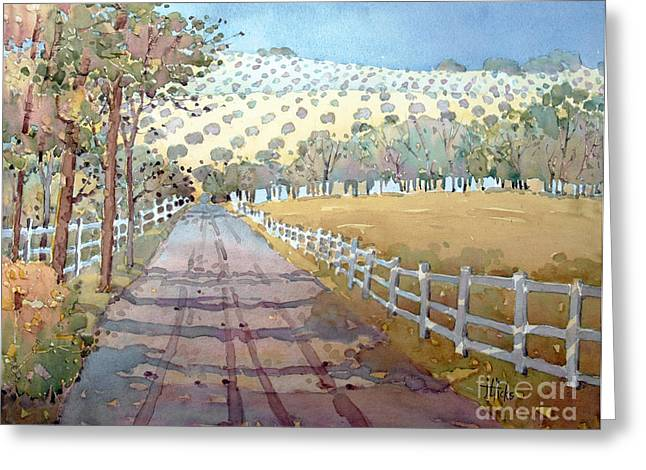 Joyce Hicks Greeting Cards - This Way to the Vineyard Greeting Card by Joyce Hicks