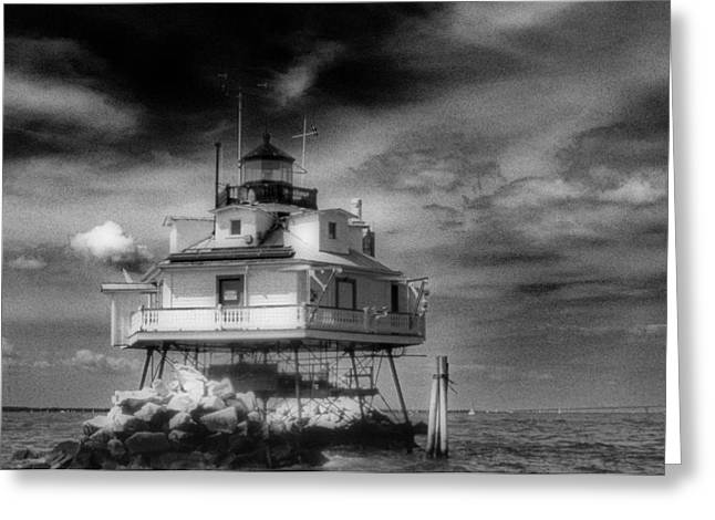 THOMAS POINT SHOAL LIGHTHOUSE Greeting Card by Skip Willits